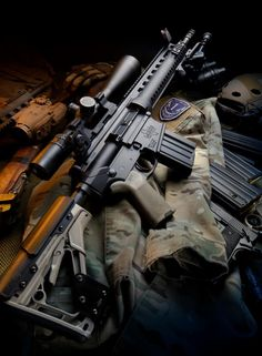 showcases some serious hardware from the 308 OBR (available in Military Weapons, Weapons Guns, Guns And Ammo, Rifles, Battle Rifle, Shooting Guns, Cool Guns, Assault Rifle, Shotgun