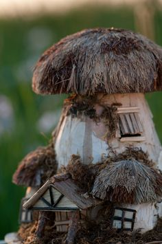 The Secret Garden - Mushroom fairy house