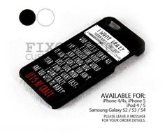 i want crazy song case for iPhone 4/4S/5 iPod 4/5 Galaxy S2/S3/S4 | FixCenter - Accessories on ArtFire