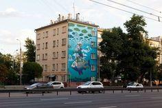Les fresques murales de Rustam Qbic fresque murale street art Rustam Qbic 08 870x580