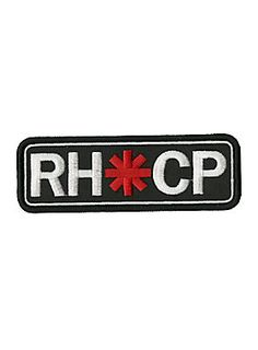 """<p>Iron-on patch from Red Hot Chili Peppers with an embroidered logo design. </p> <ul> <li>4 1/2"""" x 1 1/2""""</li> <li>Imported</li> </ul>"""