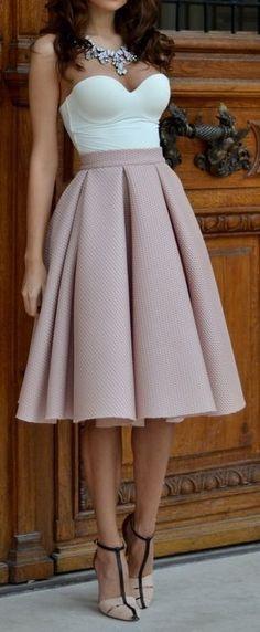 fashion,skirt,top,heels,style,beautiful,classy