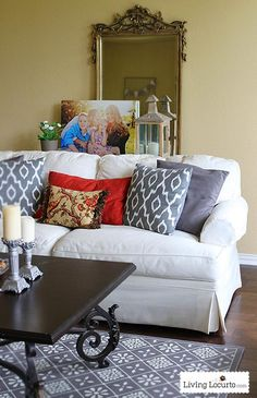 Before & After: Weekend Living Room Makeover - Decorating on a budget ideas. LivingLocurto.com