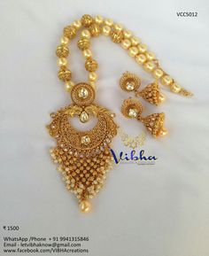 Pearl Necklaces, Gold Necklace, Gold Jewelry, Jewellery, Indian Jewelry, Collections, Pendants, Jewels, Gold Pendant Necklace