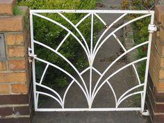 Art Deco Gate - Thornbury by raaen99, via Flickr