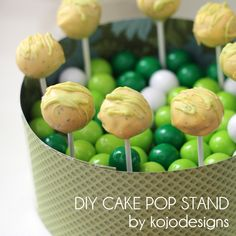 kojo tutorial- DIY cake pop stand - something to hold all those cake pop recipes