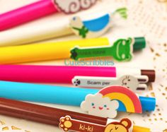 Cute Cartoon Animal Pens Kawaii Stationery Perfect for Taking Notes, Drawing, Writing, Signing, or Stationery Collection