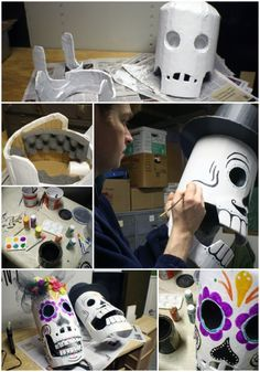 scrumdillydilly: day of the dead mask happy