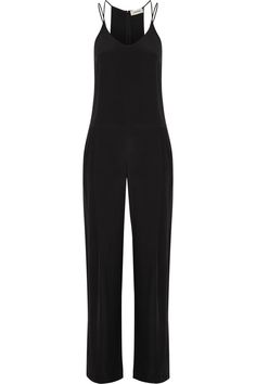 L'AGENCE Poppy Brushed-Silk Jumpsuit. #lagence #cloth #jumpsuit