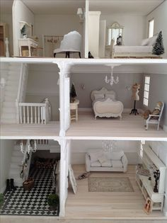 White themed Dollhouse