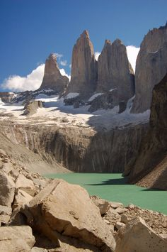 "Torres del Paine, Chile - our week post antarctica was spent hiking around these....on the infamous ""3 hour walk"" which was more like 5 hours and caused us to miss our plane home!!!"