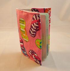 Pink Flip Flop Fabric Passport Cover- Free UK P £5.00