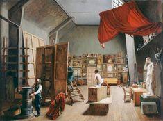 L'Atelier d'Abel de Pujol, huile sur toile d'Adrienne Marie Louise Grandpierre-Deverzy