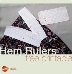 Free Printable Hem Rulers