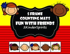 Your students will love learning how to count and write numbers 1-5 using these bright colorful five frame mats. Print out several copies and laminate to use as a fun center activity. Pom poms, buttons and other manipulatives can be substituted for more counting fun!Included in this packet are the following:*1-5 Counting Mats in color*1-5 Counting Mats in black and white*2 Blank Five Frames in color and black and white *Friend counters and number cards*Two worksheets for students that…