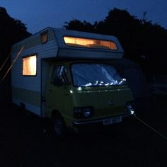 Alice the campervan is where Tilly spends her camping holidays