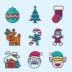 10 Free New Christmas Icon Set for 2016 - http://smashfreakz.com/2016/12/free-christmas-icon-2016/