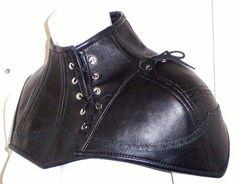 Vampire Neck Armor Steampunk Gothic Victorian Leather Costume Handmade USA | eBay