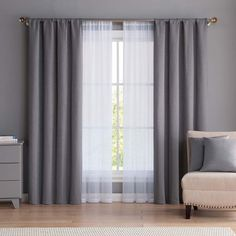 Vcny VCNY Diana Window Curtain & Throw Pillow Set Taking into consideration to room Living Room Decor Curtains, Home Curtains, Bedroom Decor, Bedroom Window Curtains, Bedroom Curtains With Blinds, Gray Curtains, Double Curtains, Blackout Curtains, Living Room Grey