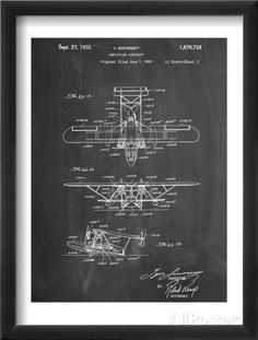 Sikorsky Amphibian Aircraft 1929 Patent Affiches sur AllPosters.fr