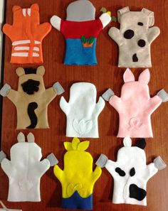 Hand puppets - Old MacDonald had a farm - They were made with felt