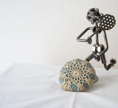 Lace Stone Table Decoration Beach Home Decor paper weight Doorstop 15% Discount Pinterest Special: PINSN15