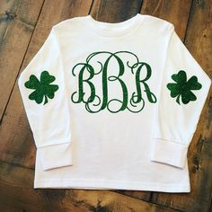A personal favorite from my Etsy shop https://www.etsy.com/listing/268321793/st-patricks-day-monogrammed-shirt