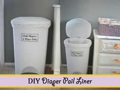 Runs With Spatulas: DIY Diaper Pail Liner (with French seams) - super easy and takes maybe 30 minutes