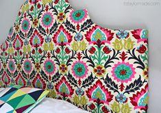 DIY Headboard! And LOVE this fabric