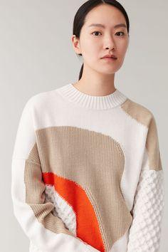 Productpage - Orange / brown / oatmeal Cold Weather Outfits, Winter Wardrobe, Blue Orange, Wool Blend, Knitwear, Contrast, Women Wear, Men Sweater, Pullover