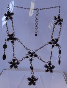 Black and Antique Gold Necklace  Costume Jewellery