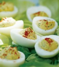 Deviled Eggs with a healthy twist!! Make these for your Memorial Day cookout and be the talk of the party!!! |eatingwell.com