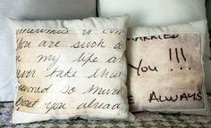 Romantica Almohada con carta de amor :) - DIY