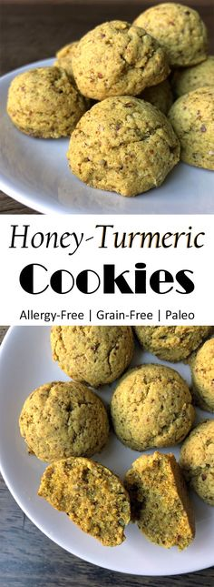 Honey Turmeric Cookies (Paleo, Allergy Free, Grain Free, Gluten Free, Nut Free)