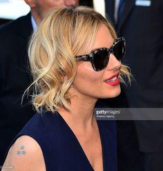 Sienna Miller arriving at Cannes Film Festival in Cannes, wearing Animal Print Square Wayfarer Sunglasses #SelectSpecs