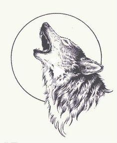 Wolf Und Mond Tattoo, Tattoo Mond, Wolf Tattoo Design, Tattoo Designs, Wolf Design, Trendy Tattoos, Cute Tattoos, Body Art Tattoos, Tattoo Hip