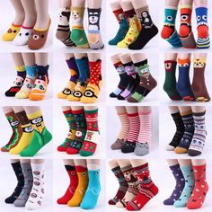 c388bbd3ee5 Details about Free shipping  Buy5+Gift1  Choice ! Funny Fashion Cartoon  Socks Women Kids