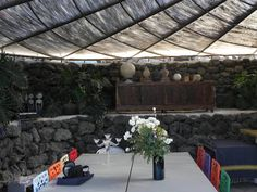 """A.S. in a traditional """"dammuso"""" in Pantelleria"""