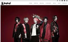 日本のヴィジュアル系ロックバンド、BugLug(バグラグ)のオフィシャルサイトのWEBデザインです。