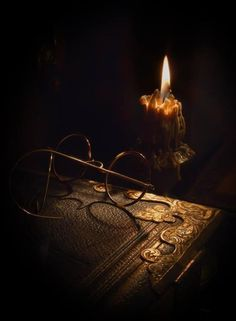 Read the Old Books by Candlelight. Old Books, Books To Read, Vintage Books, Under Your Spell, Candle Lanterns, Glass Candle, Love Book, Still Life, Black And Brown