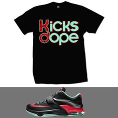 KICKS DOPE KD 7 GOOD APPLE T SHIRT - BLACK - - The Fresh Life Clothing