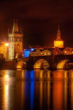✯ Charles Bridge - Prague, Czech Republic I saw this too, they were shooting fireworks that night