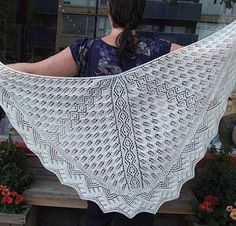 Harbour Lights Shawl Kit - Knitting Kit includes Yarn & Pattern! - Shop Craftsy's premiere assortment of knitting supplies and save! Get the Harbour Lights Shawl Kit before it sells out. - via @Craftsy
