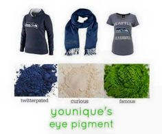Love these pigments for gameday!