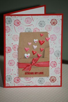 One Handmade Valentines Card Happy Valentine's by ... | Cards