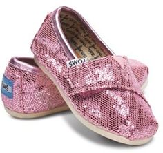 PINK... Sparkly... TOMS! LOVE