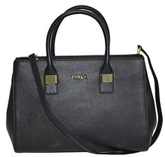 Furla Amelia Leather Medium Tote Shoulder Bag Handbag Purse