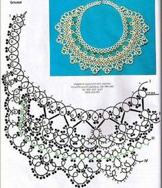 Diy Necklace Patterns, Jewelry Patterns, Beading Patterns, Crochet Patterns, Tatting Necklace, Tatting Jewelry, Tatting Lace, Needle Tatting Tutorial, Shuttle Tatting Patterns