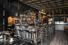 When you walked in Paris towards to Merci and you found Grazie . That& how I found Grazie restaurant. Industrial Restaurant, Modern Restaurant, Restaurant Bar, Restaurant Furniture, Restaurant Interior Design, Rustic Outdoor Bar, Country Bar, Home Bar Areas, Shed Interior