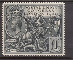 Great Britain, issued in 1929 : : to commemorate the 1929 Postal Union Congress, held in London, this was the second British commemorative stamp to be issued. Uk Stamps, Rare Stamps, Vintage Stamps, Going Postal, Postage Stamp Art, In China, Tampons, Mail Art, Stamp Collecting